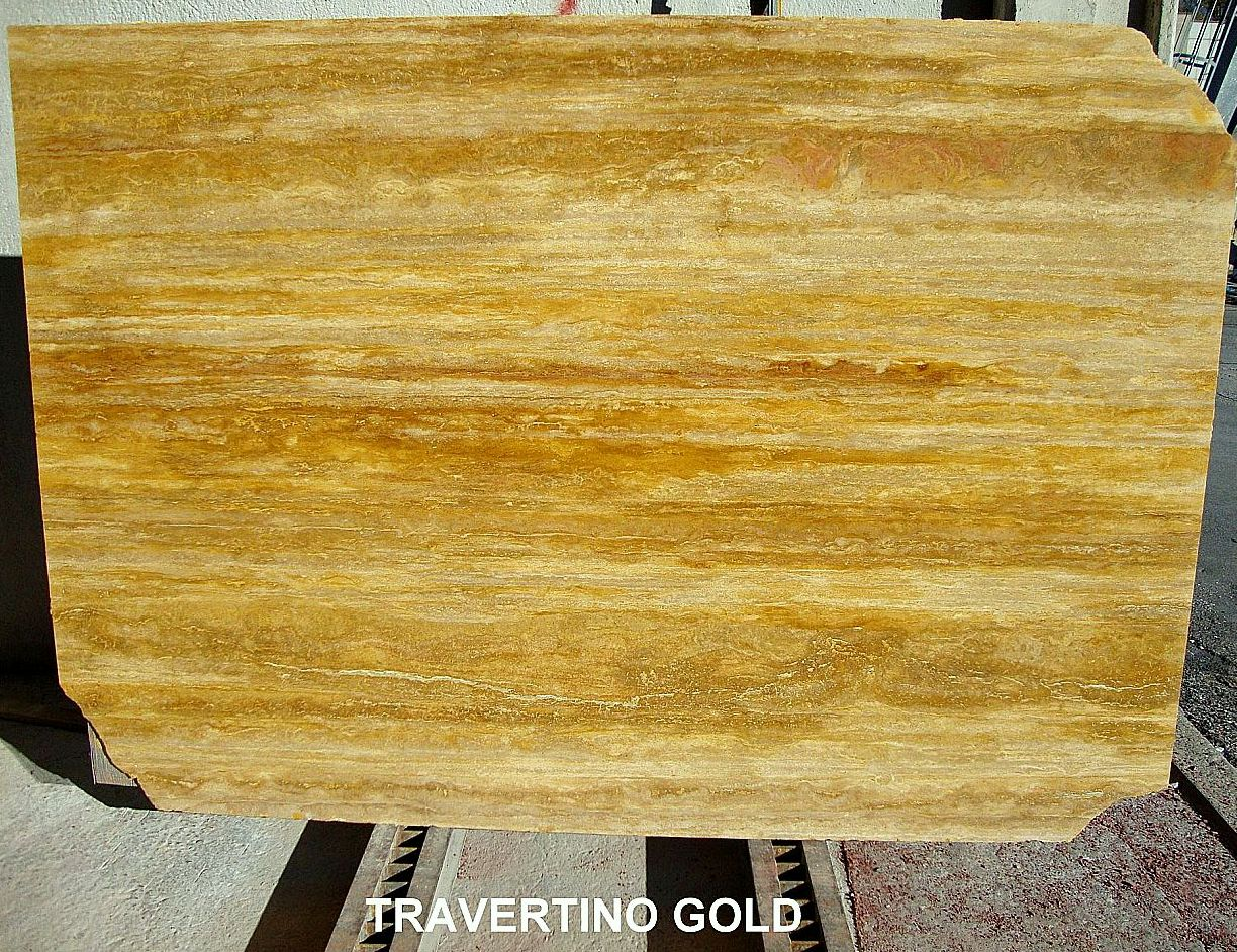 PERUVIAN GOLDEN TRAVERTINE-BL.12362-SOLD